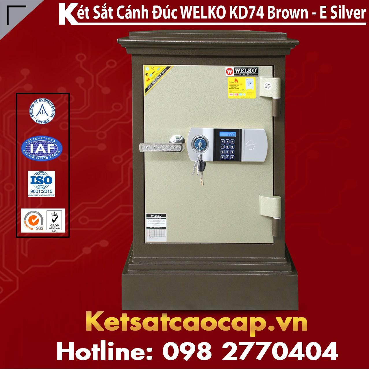 Két Sắt Cánh Đúc WELKO KD74 Brown - E Silver