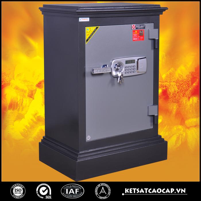 đặc điểm sản phẩm Két Sắt Cánh đúc KD74 đen Khóa điện tử