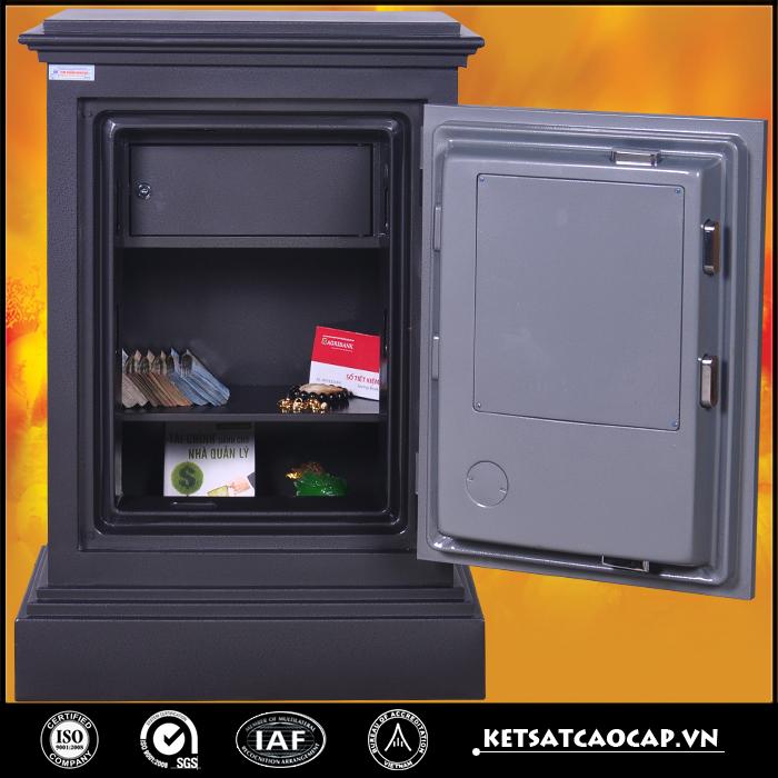 hình ảnh sản phẩm Két Sắt Cánh đúc KD74 đen Khóa cơ