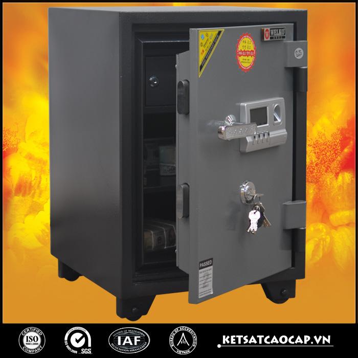 đặc điểm sản phẩm Két sắt chống cháy kcc 110 Vân tay