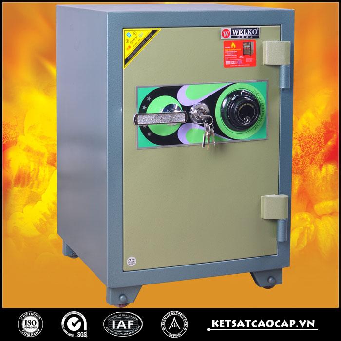 đặc điểm sản phẩm Két sắt chống cháy kcc120 DM Xanh