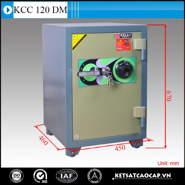 hình ảnh sản phẩm Két sắt chống cháy kcc120 DM Xanh