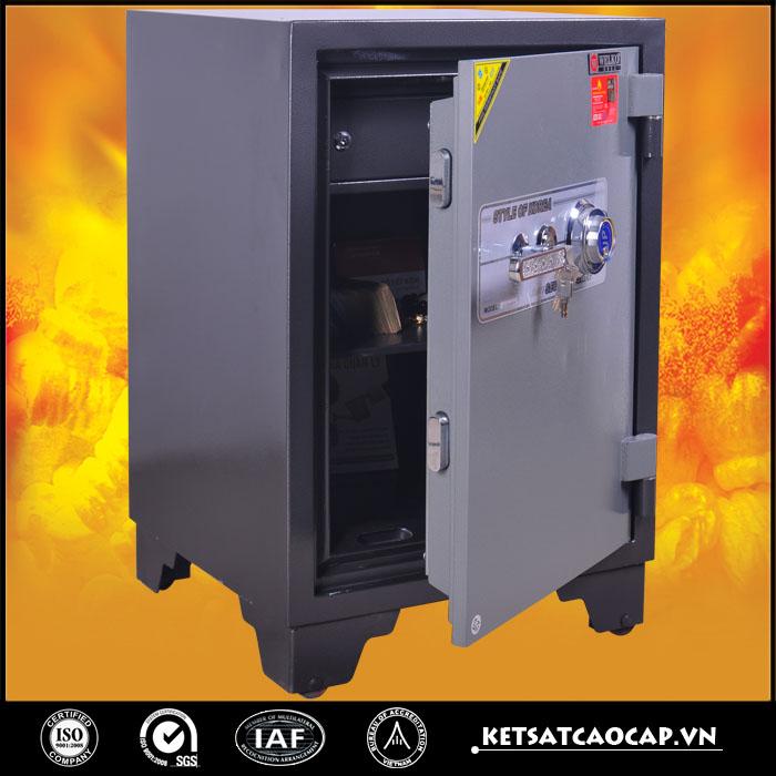 đặc điểm sản phẩm Két sắt chống cháy kcc150 DM