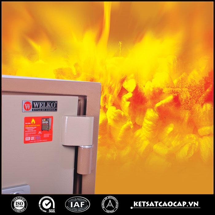 hình ảnh sản phẩm Két Sắt Chống Cháy KCC200 Đổi MÃ + Vân Tay