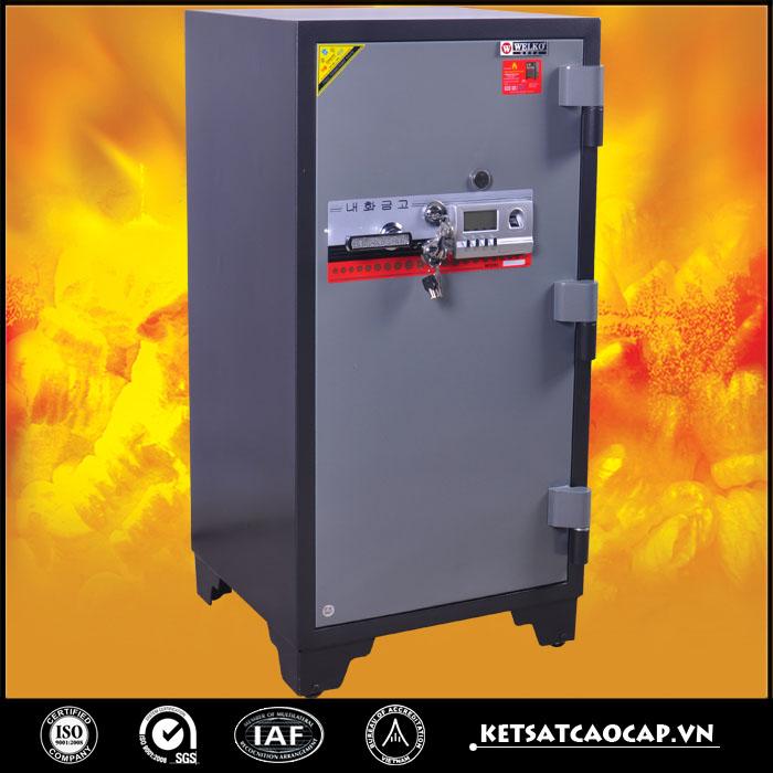 đặc điểm sản phẩm Két Sắt Chống Cháy KCC240 2K Vân Tay