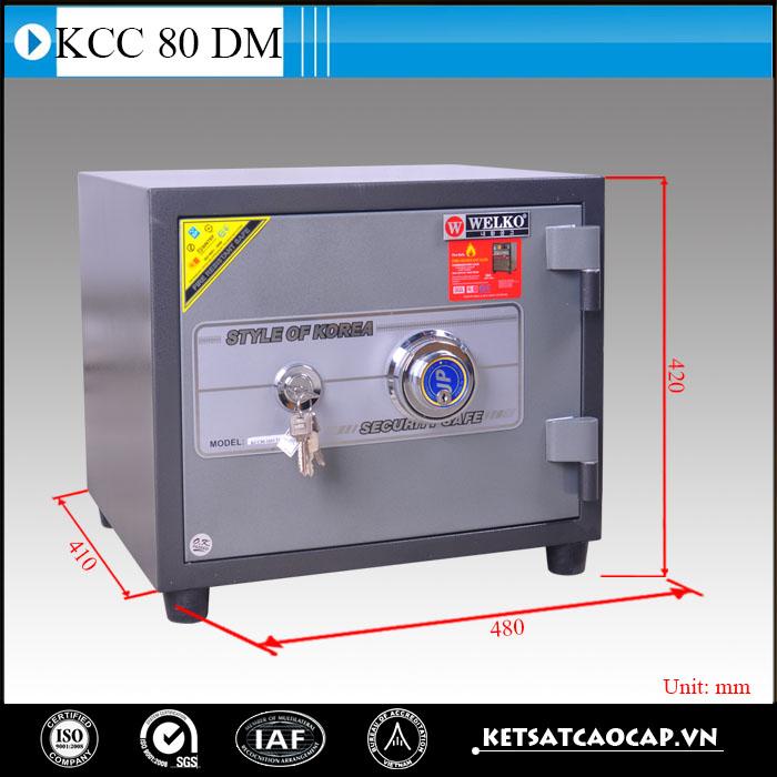 hình ảnh sản phẩm Két Sắt Chống Cháy KCC 80  DM