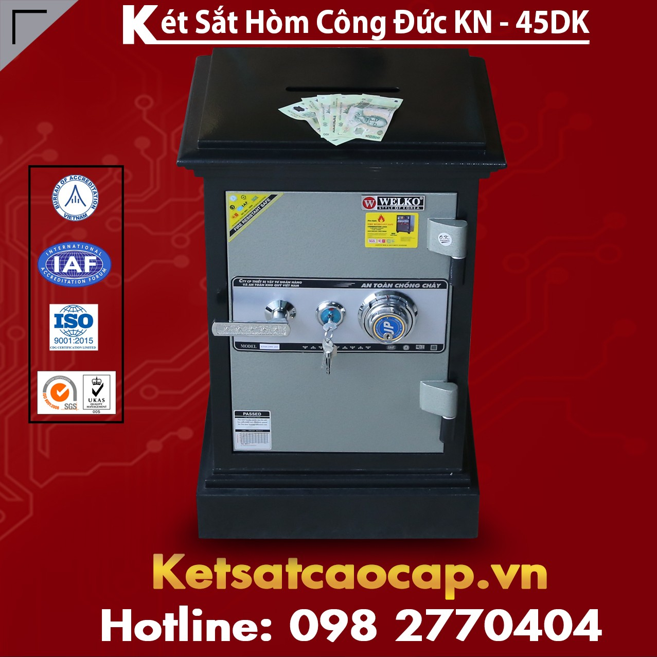 Két Sắt Công Đức KN45 DK Bảo Vệ Tài Sản Tuyệt Đối
