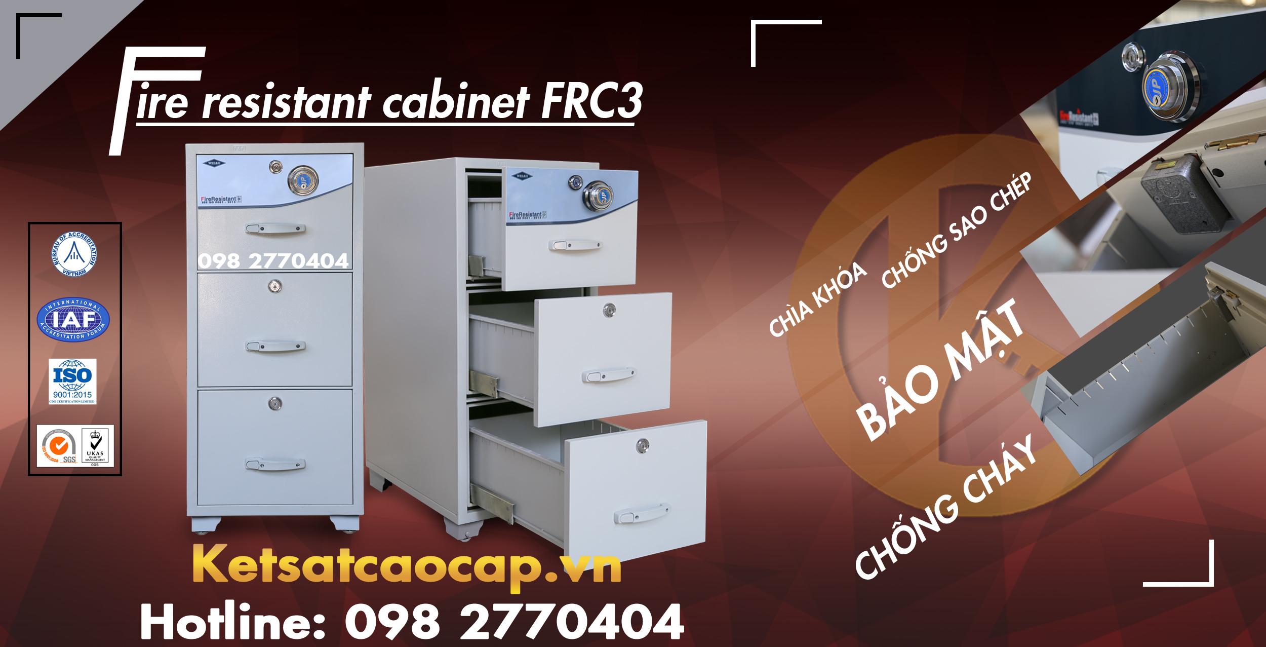 hình ảnh sản phẩm Tủ Hồ Sơ Chống Cháy FRC3 Cabinet