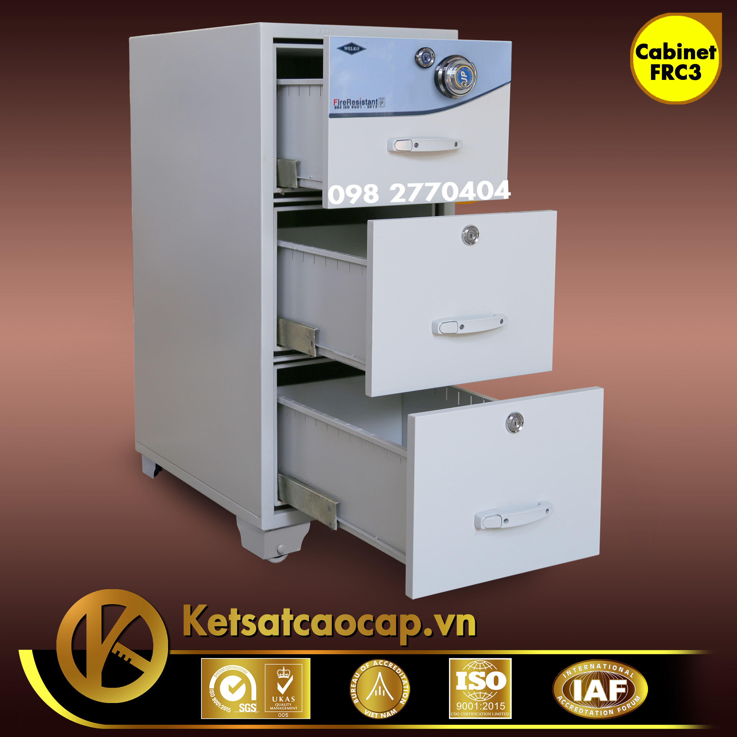 đặc điểm sản phẩm Tủ Hồ Sơ Chống Cháy FRC3 Cabinet