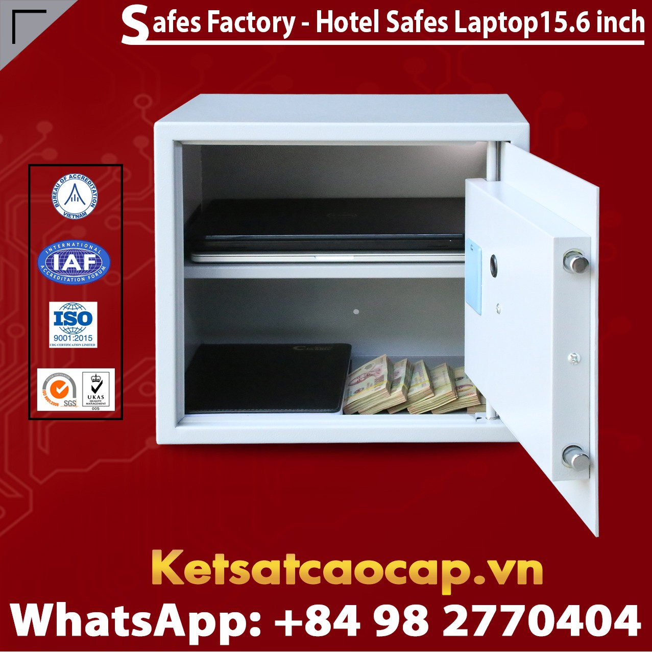 Két Sắt Khách Sạn Hà Nội Hotel Safes WELKO Laptop 15.6 Inch