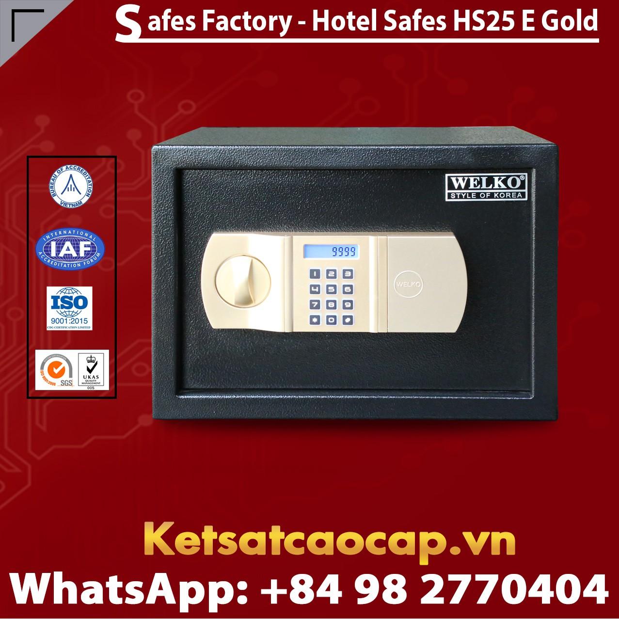 Két Sắt Khách Sạn Hotel Safes WELKO HS25 E Gold