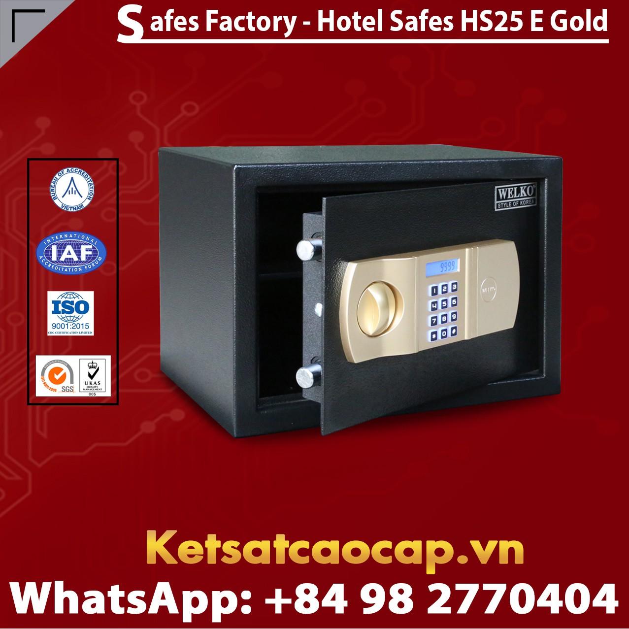 Hotel Safes  WELKO HS25 E Gold