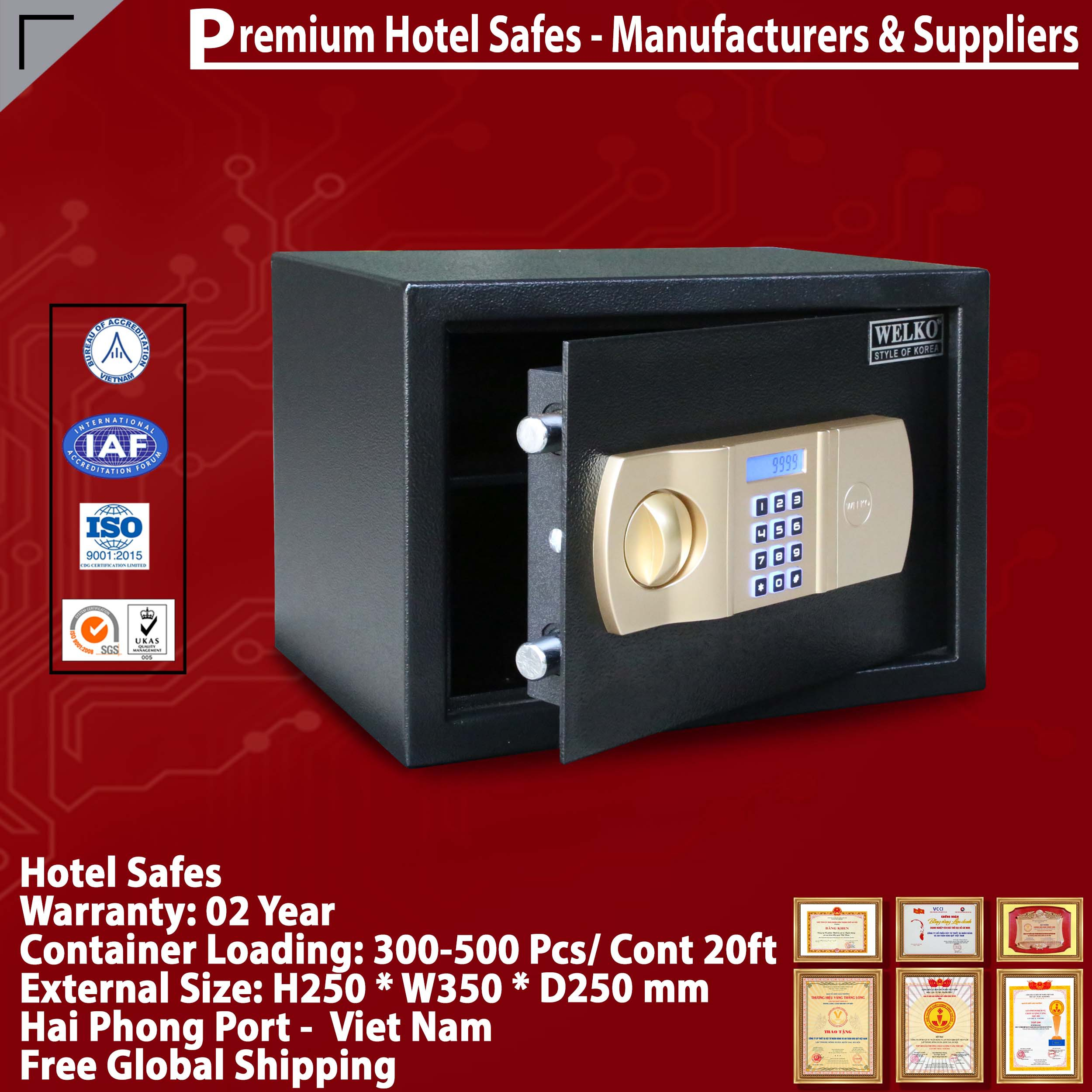 Hotel Safes Homesun