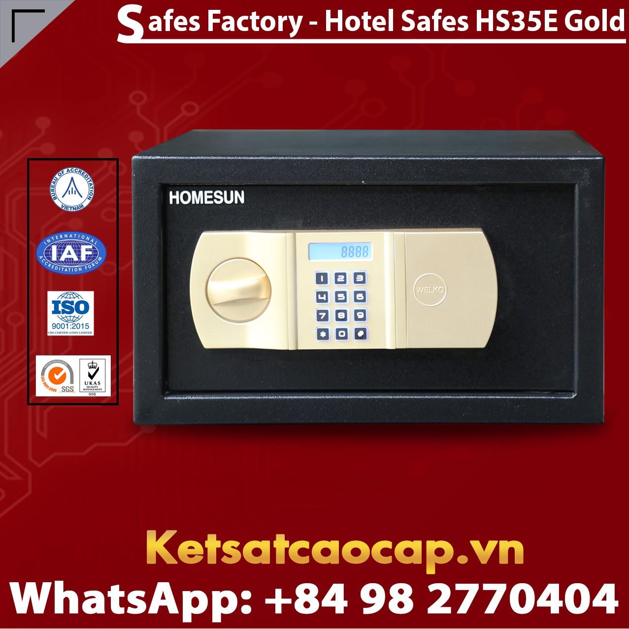 Két Sắt Khách Sạn Hotel Safes HOMESUN HS35 E Gold