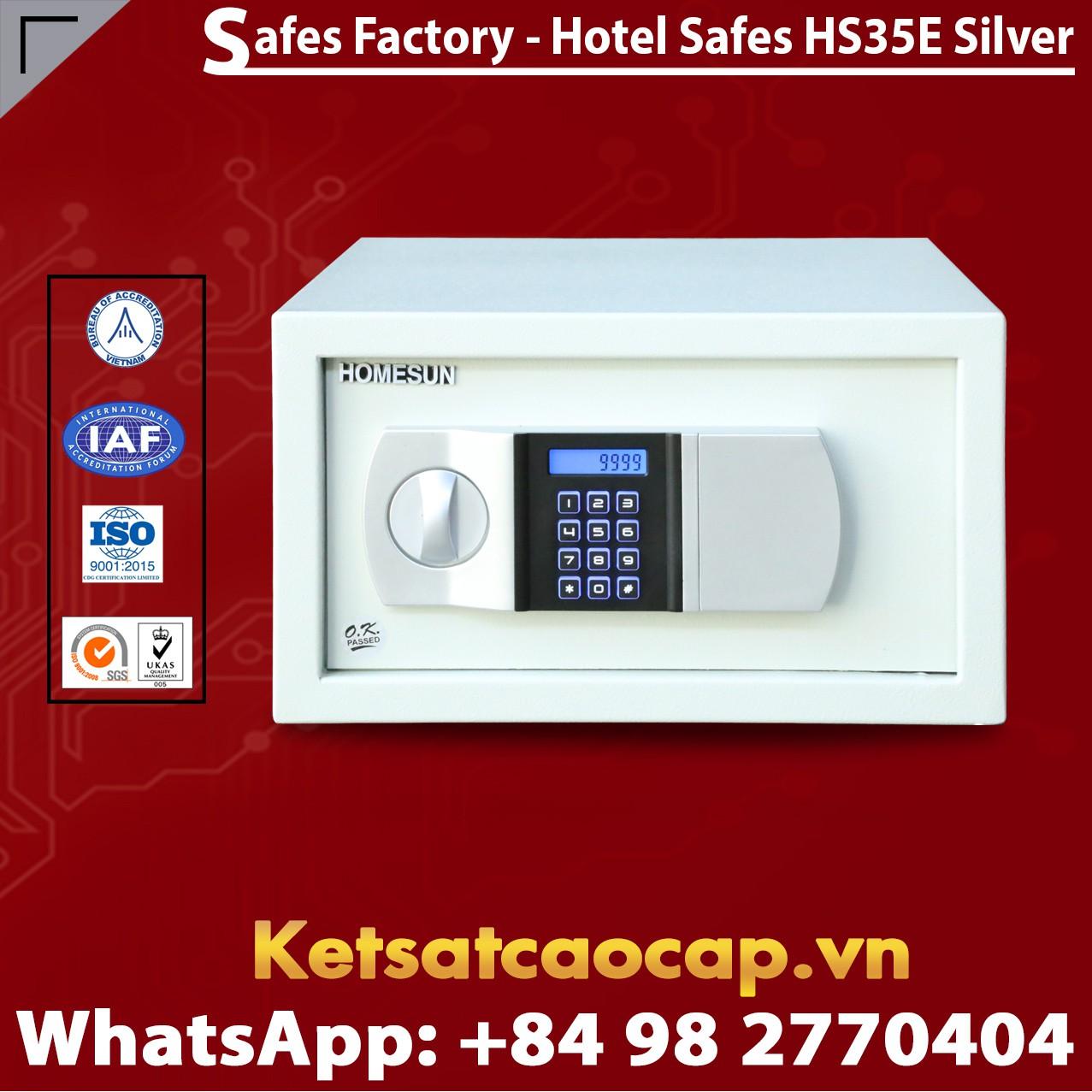 Két Sắt Khách Sạn Hotel Safes HOMESUN HS35 E Silver