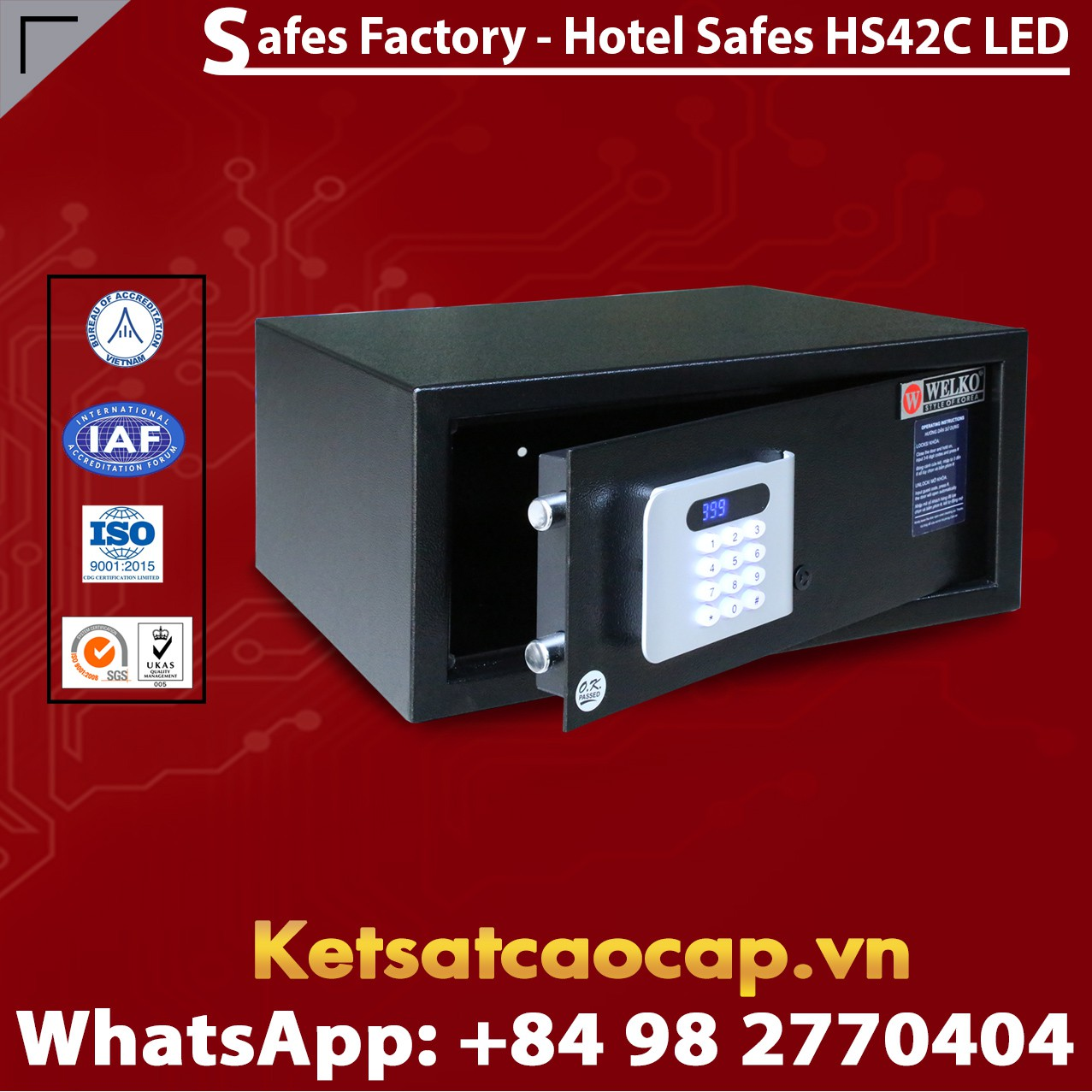 Hotel Safes WELKO HS42 C LED