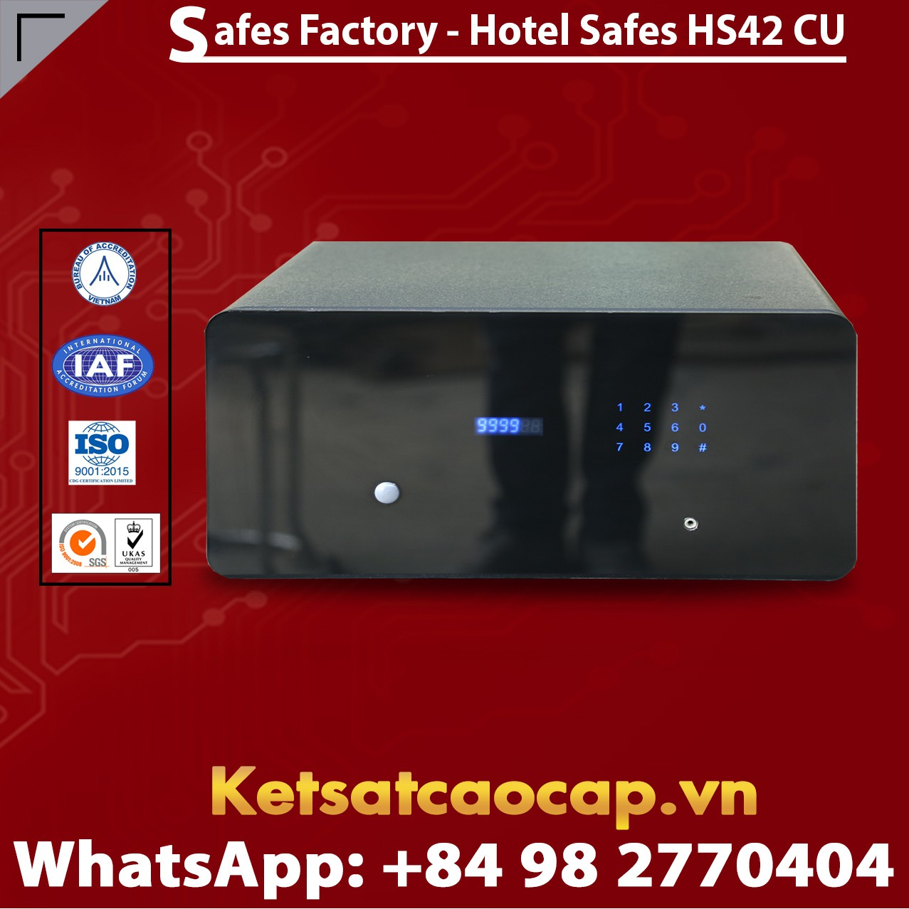 Két Sắt Khách Sạn Hotel Safes WELKO HS42 CU
