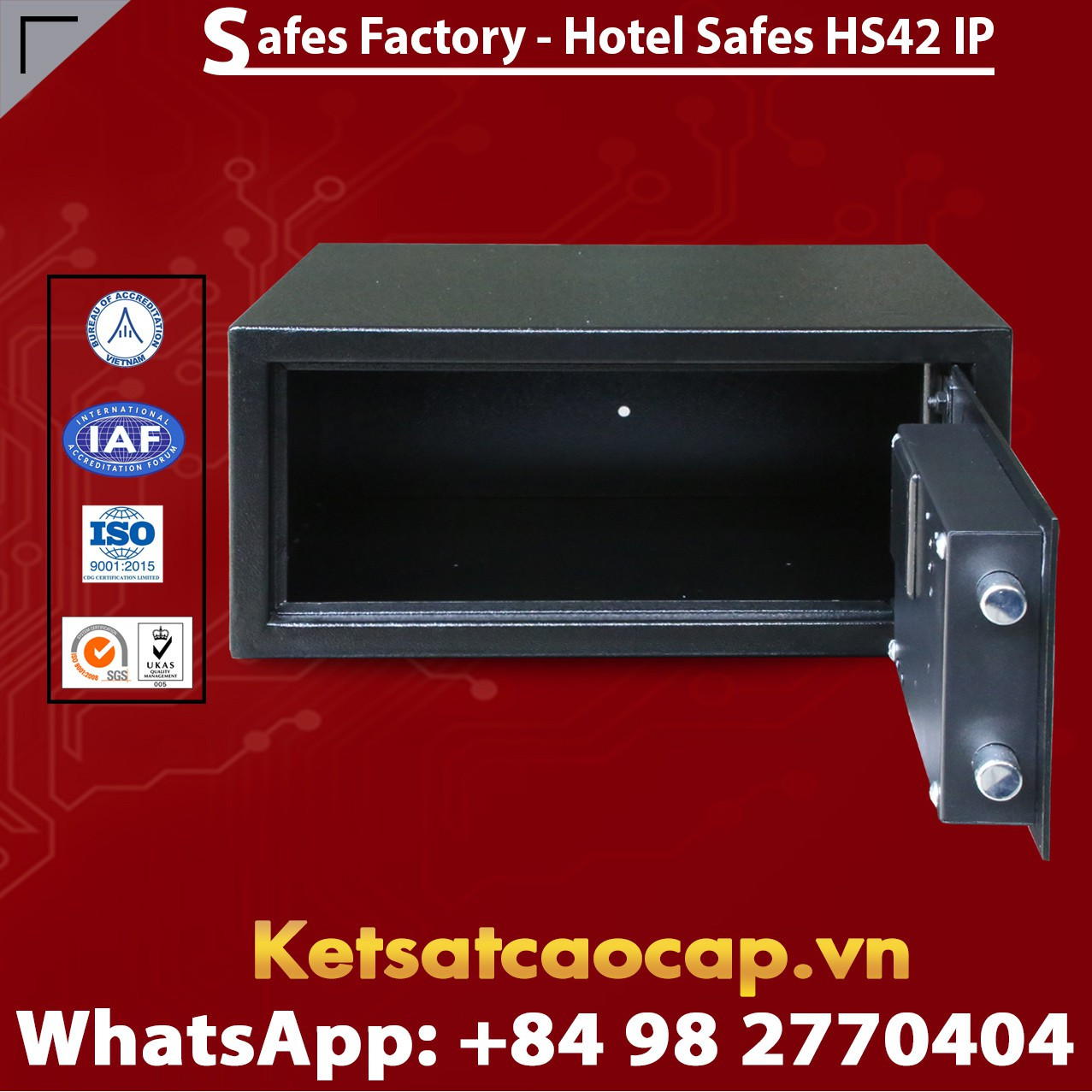 Két Sắt Khách Sạn Hotel Safes WELKO HS42 IP
