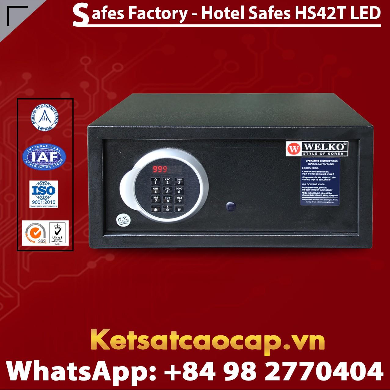 Két Sắt Khách Sạn Hotel Safes WELKO HS42T LED