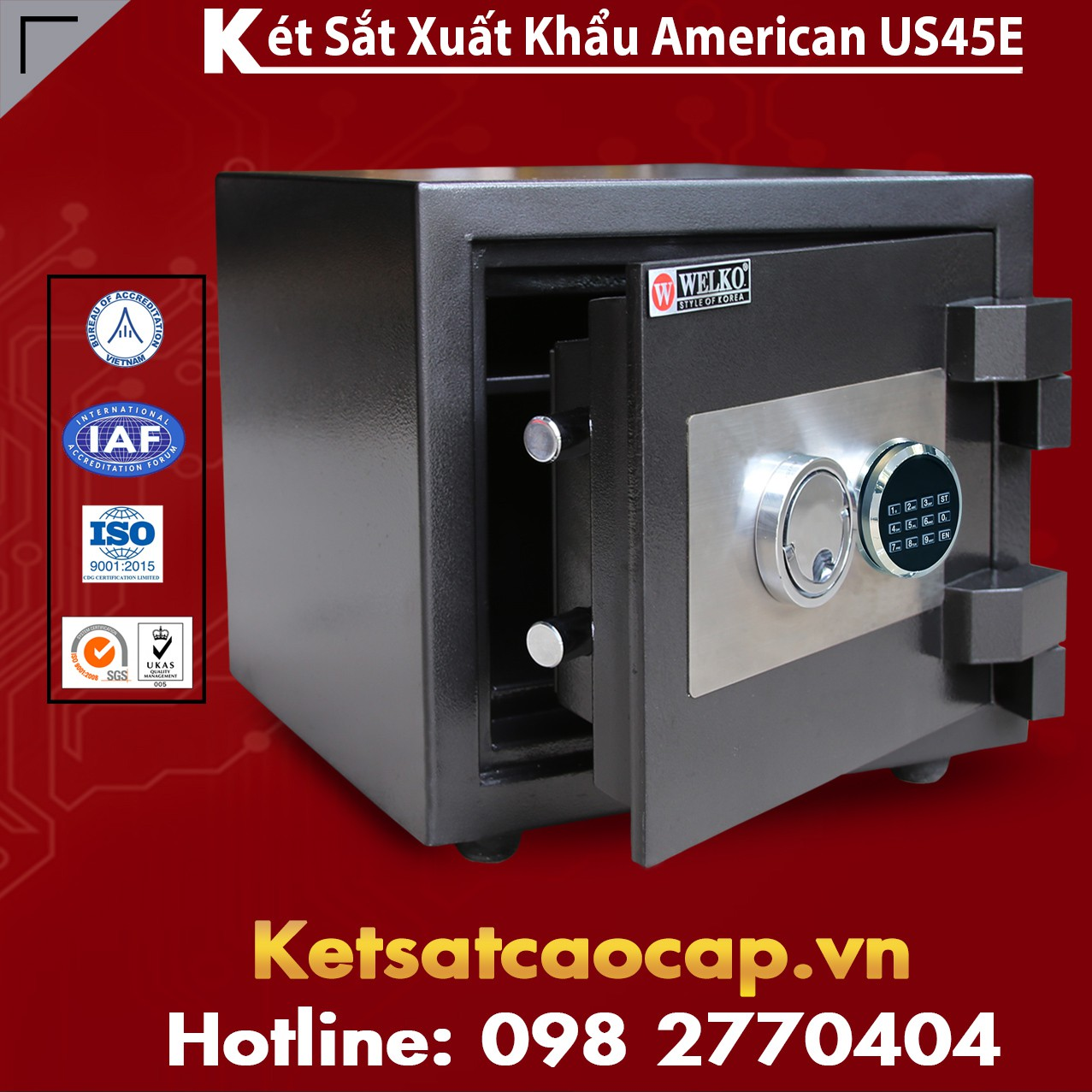 Két Sắt Mini US 45 E Black