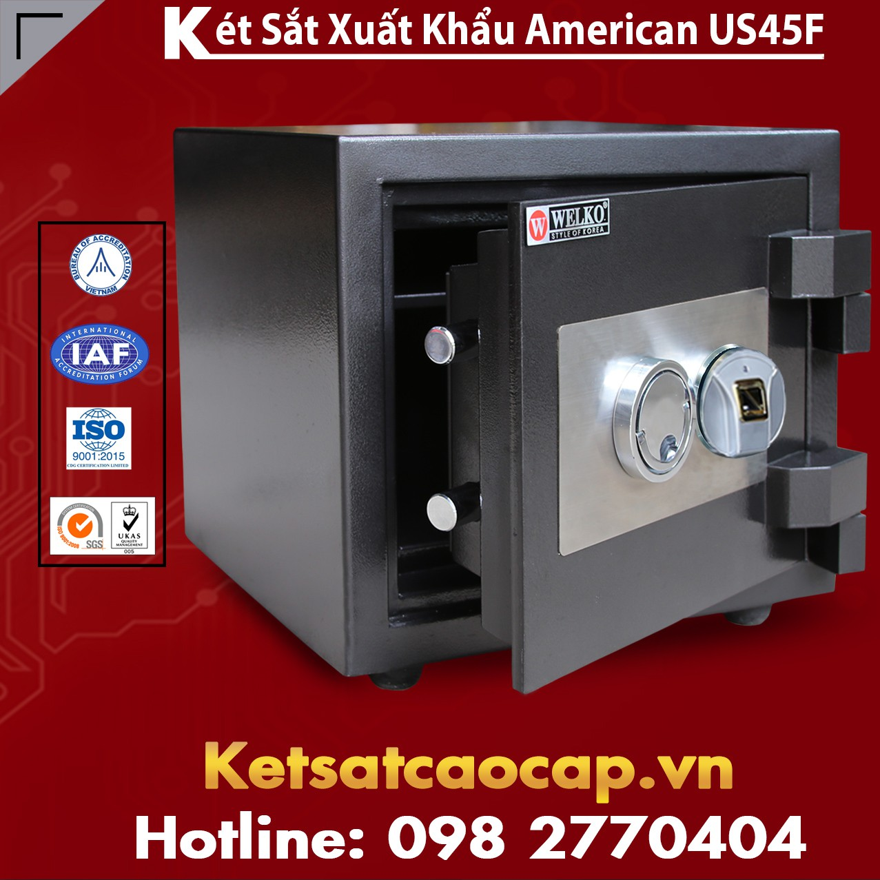 Két Sắt Mini US 45 F Black