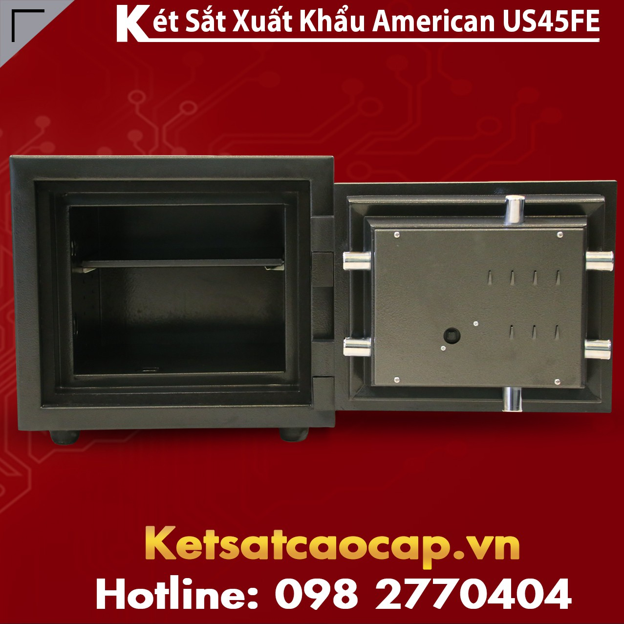Két Sắt Mini US 45 FE Black