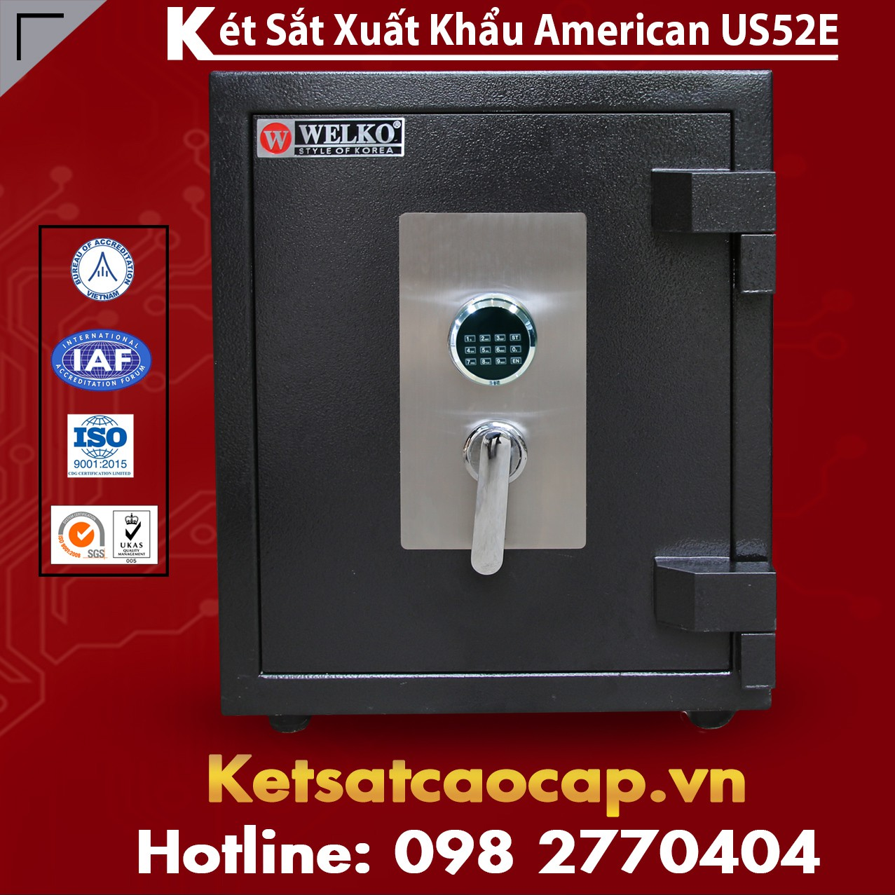 Két Sắt Mini US52 E Black