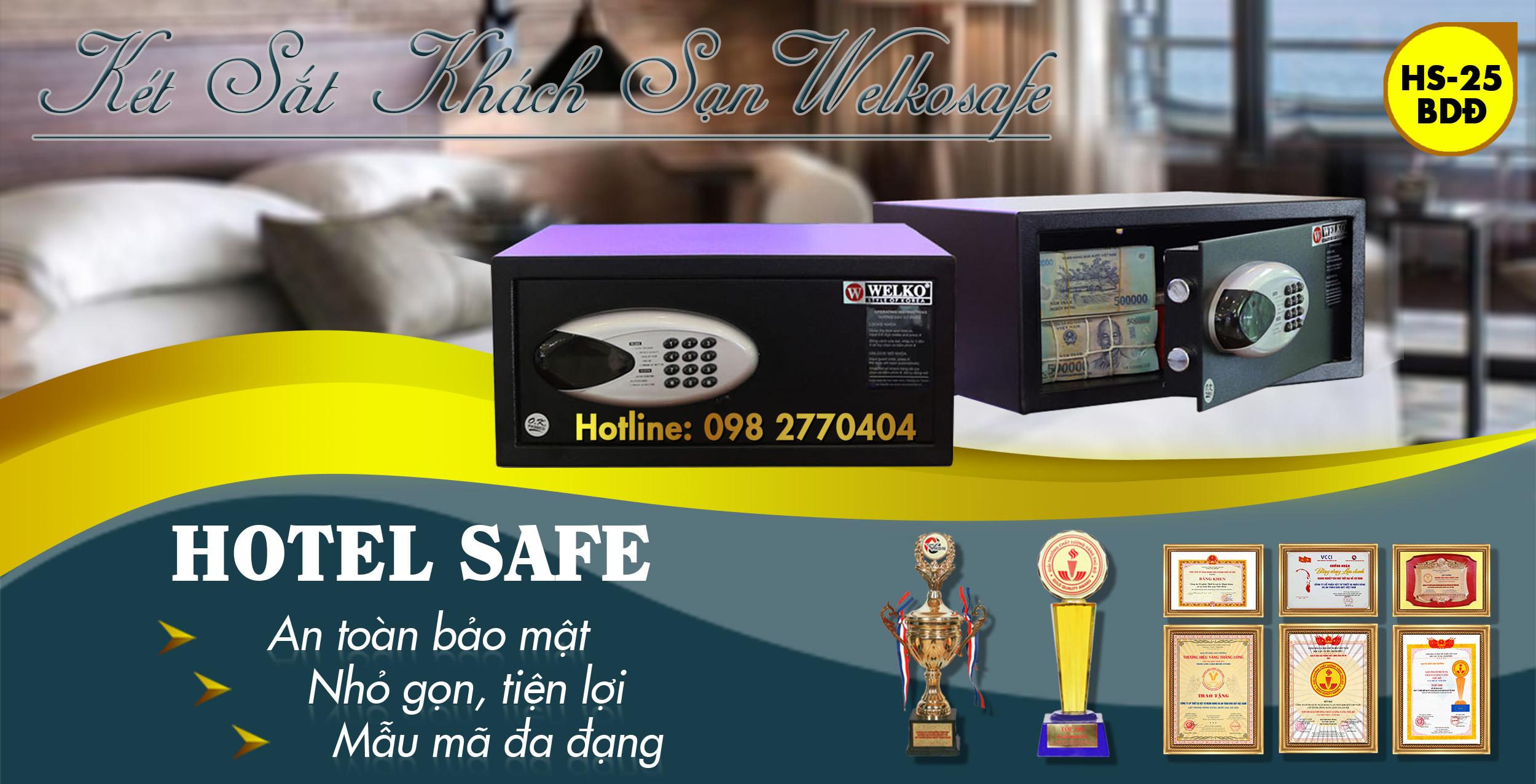 hình ảnh sản phẩm mua két sắt khách sạn điện tử