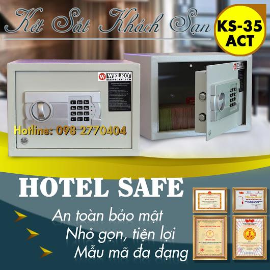 Két Sắt Khách Sạn HS35 ACT White