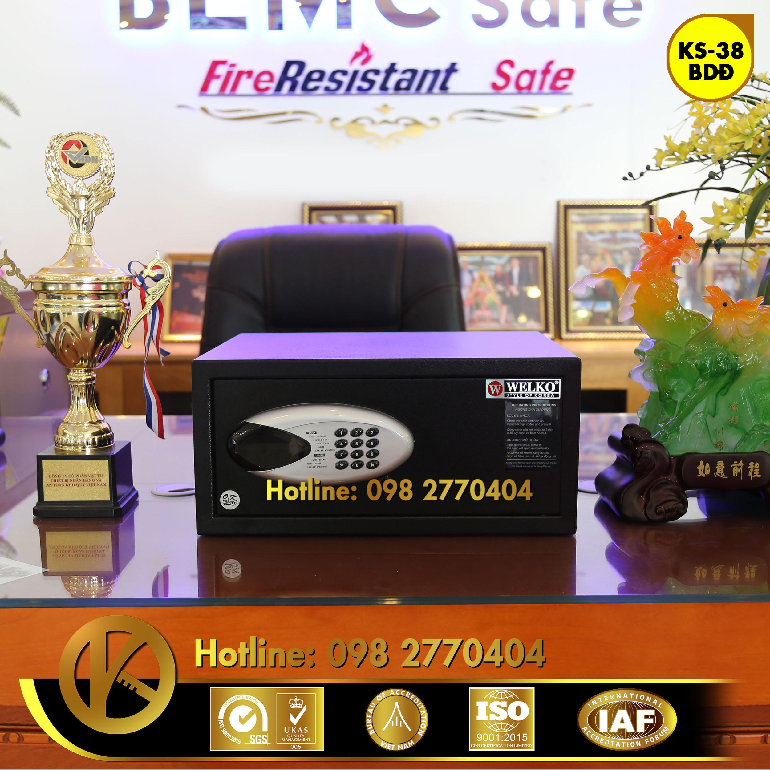 đặc điểm sản phẩm Két Sắt Khách Sạn HS38 BDD Black