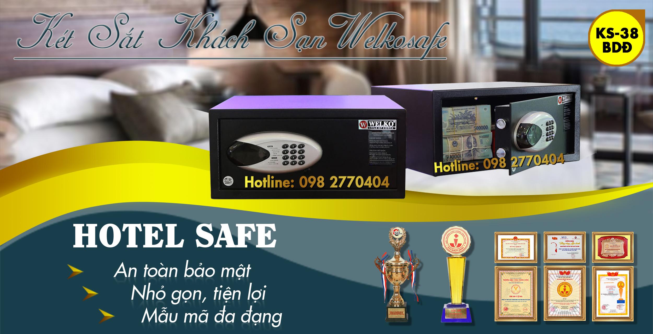 két sắt khách sạn khoá điện tử công nghệ mới
