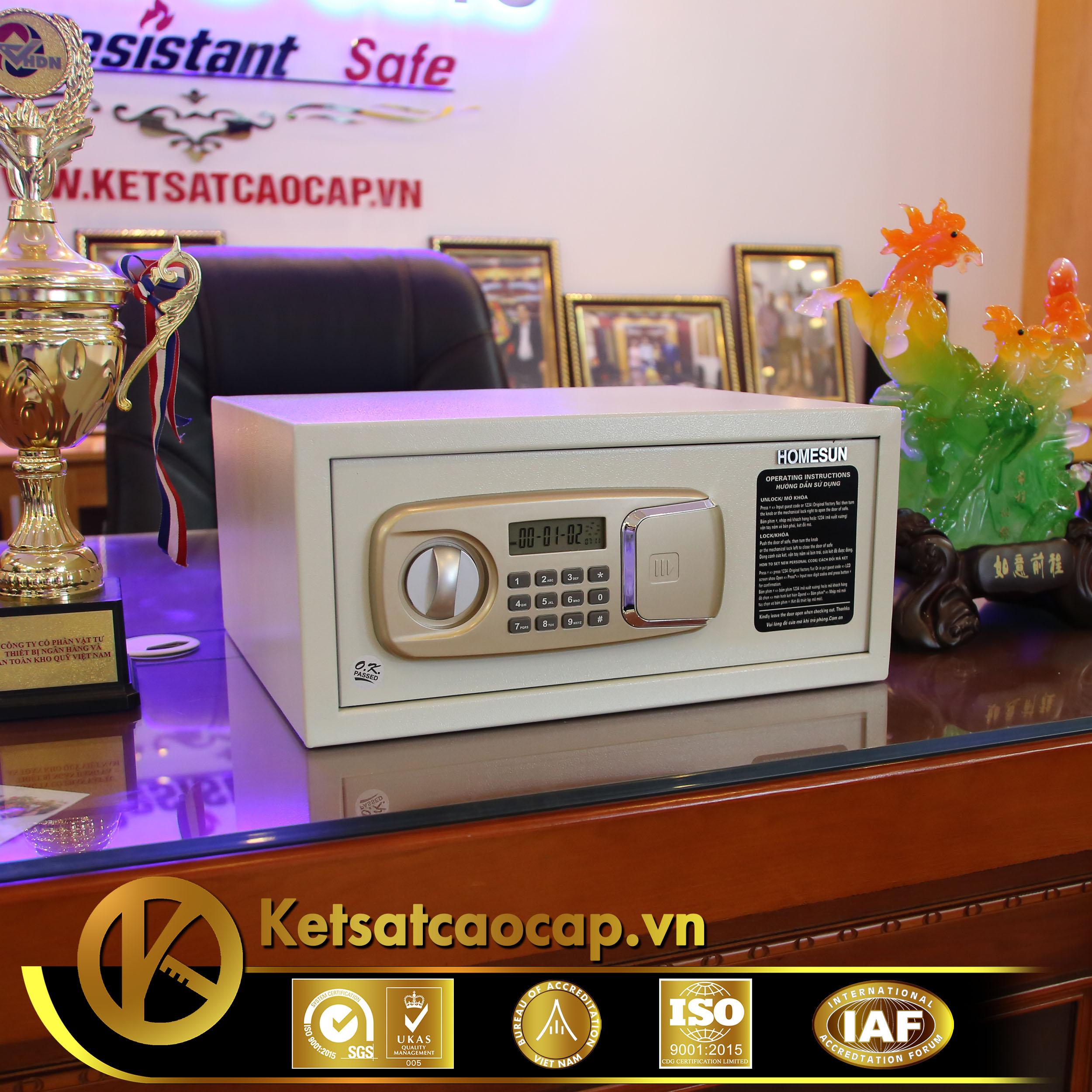 đặc điểm sản phẩm Két sắt khách sạn KS25-GOLD-PNT