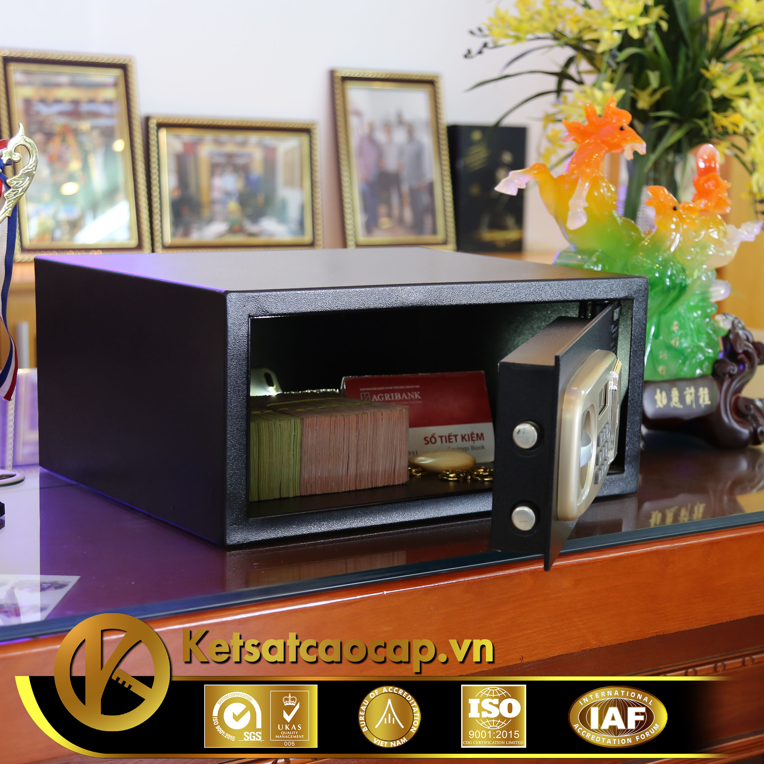 Két sắt khách sạn KS25-GOLD-PND