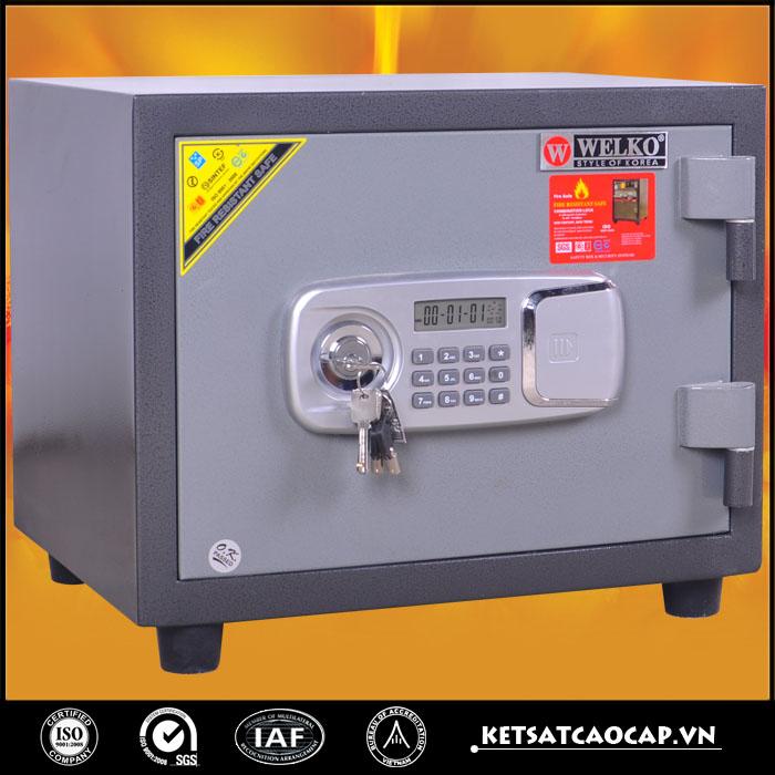 đặc điểm sản phẩm Két sắt chống cháy kcc 60 đen khóa điện tử