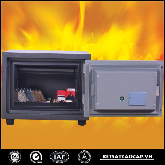 Két sắt chống cháy kcc 80 đen điện tử