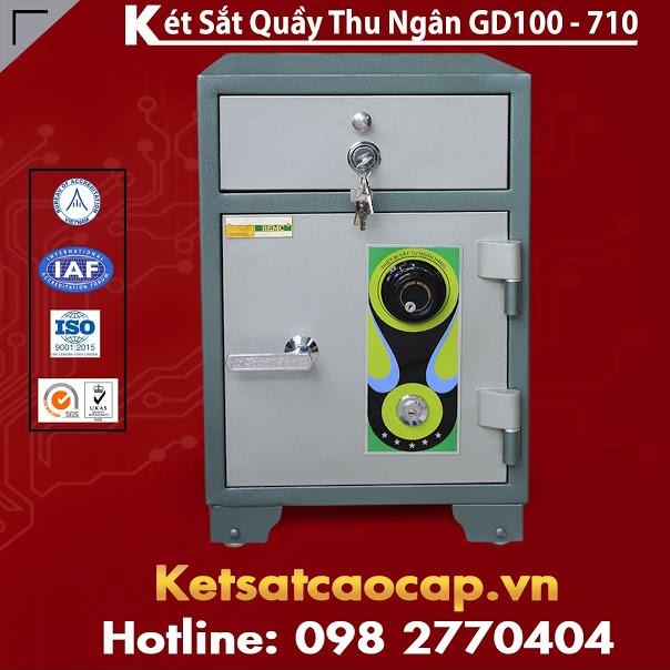 Két Sắt Quầy Thu Ngân BEMC GD100-710 Két Sắt Uy Tín Hàng Đầu Việt Nam