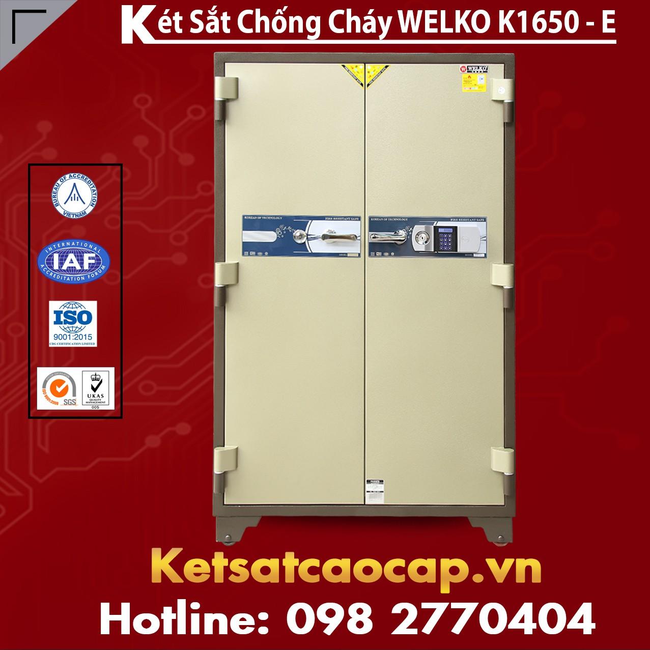 Két Sắt Chống Cháy Welko K1650 - E Silver