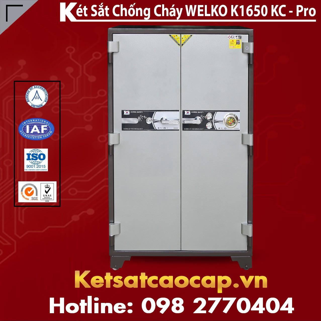 Két Sắt Chống Cháy Welko K1650 KC - Pro