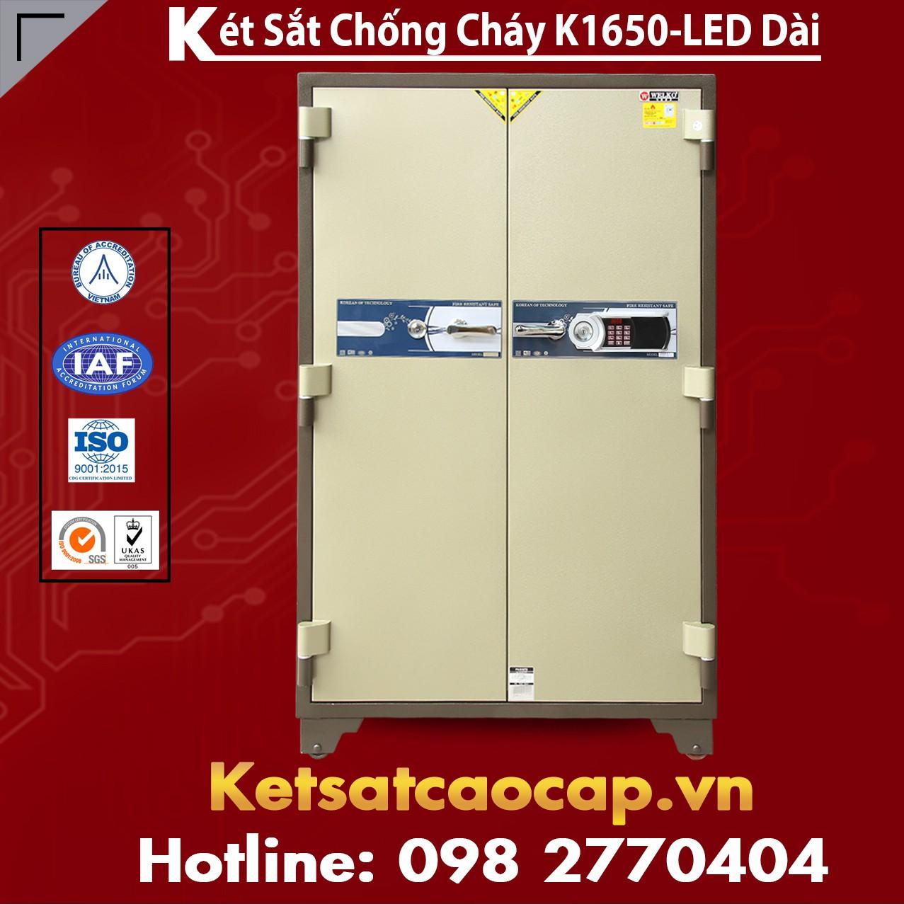 Két Sắt Chống Cháy Welko K1650 - LED Dài
