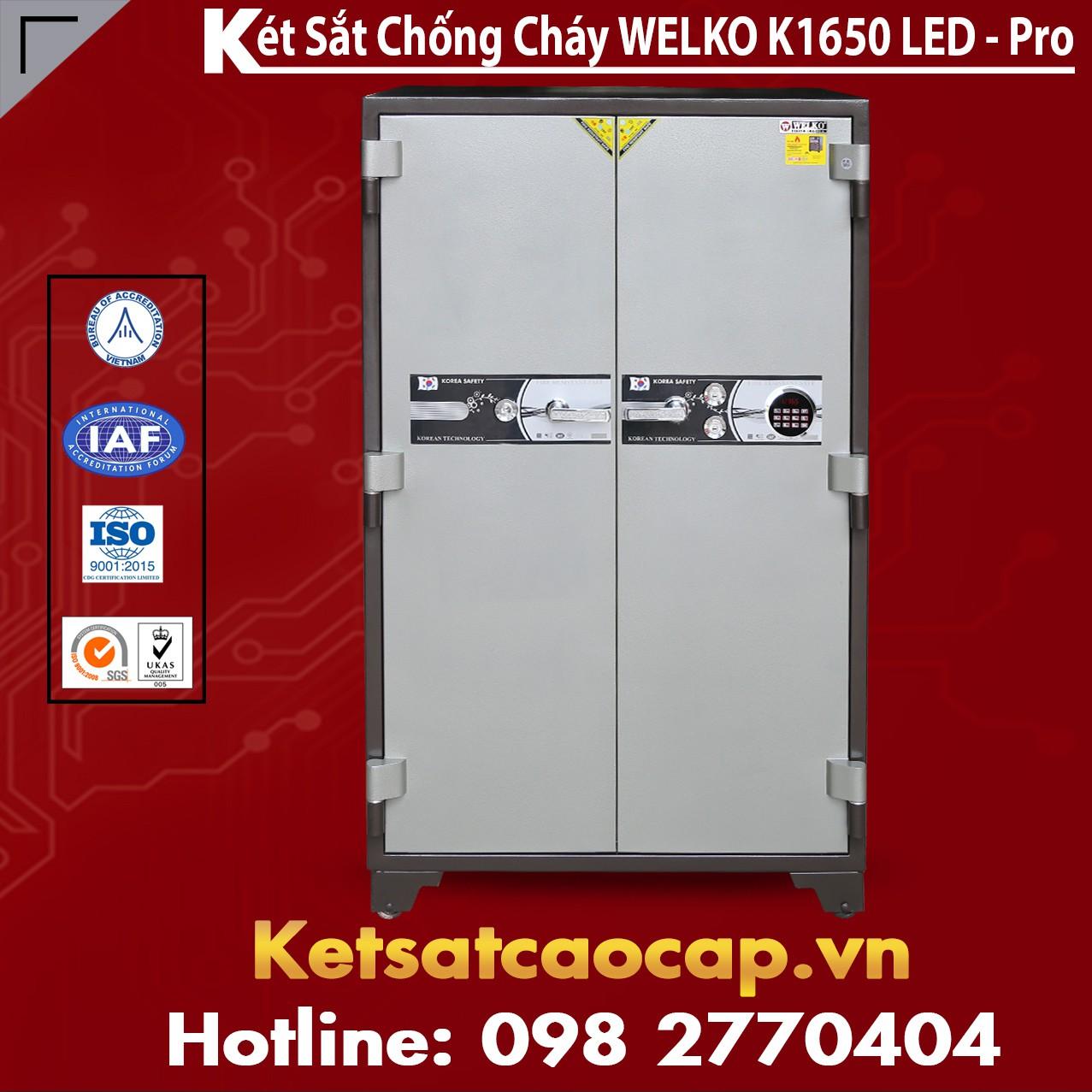 Két Sắt Chống Cháy Welko K1650 LED - Pro