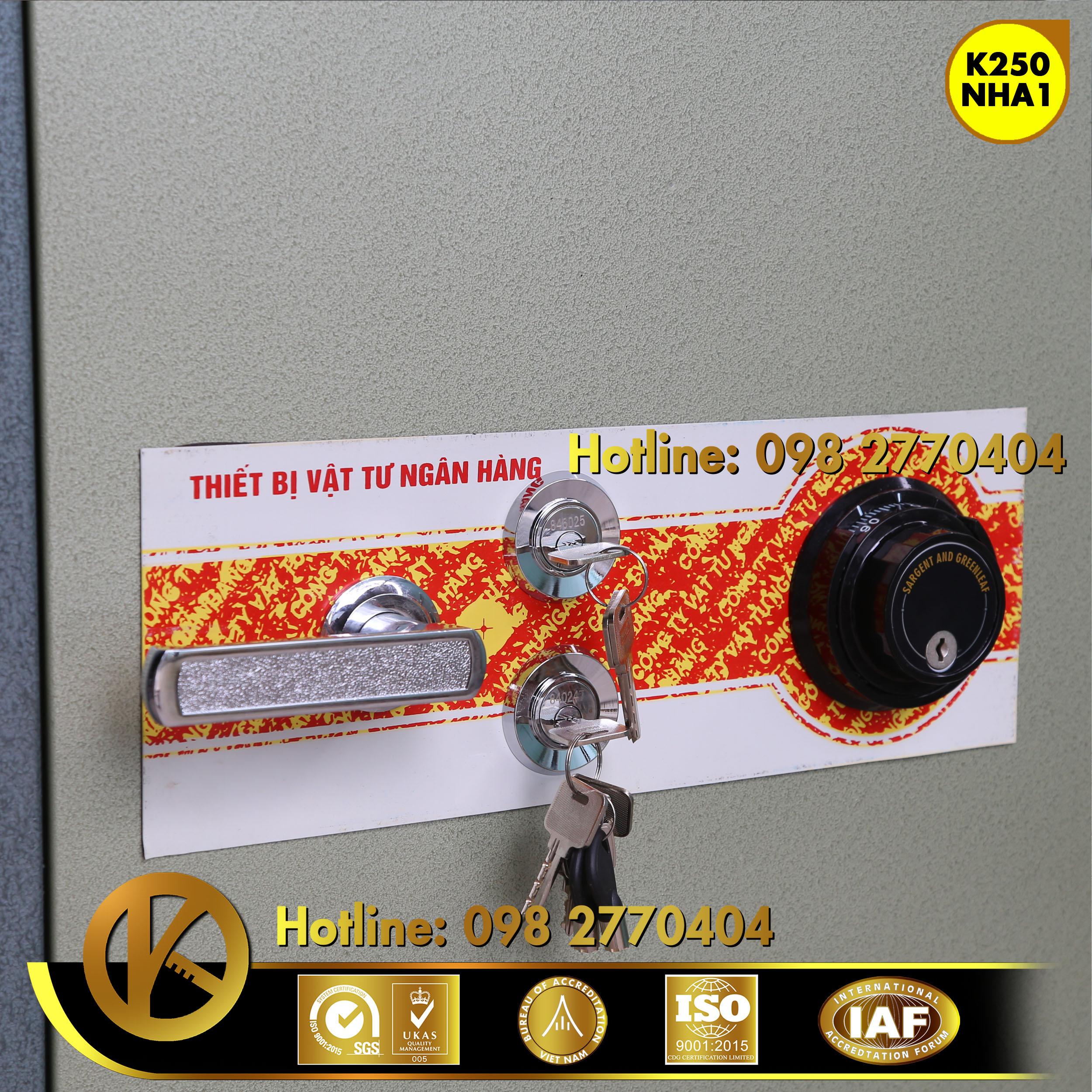 Két sắt ngân hàng K250 khóa đổi mã