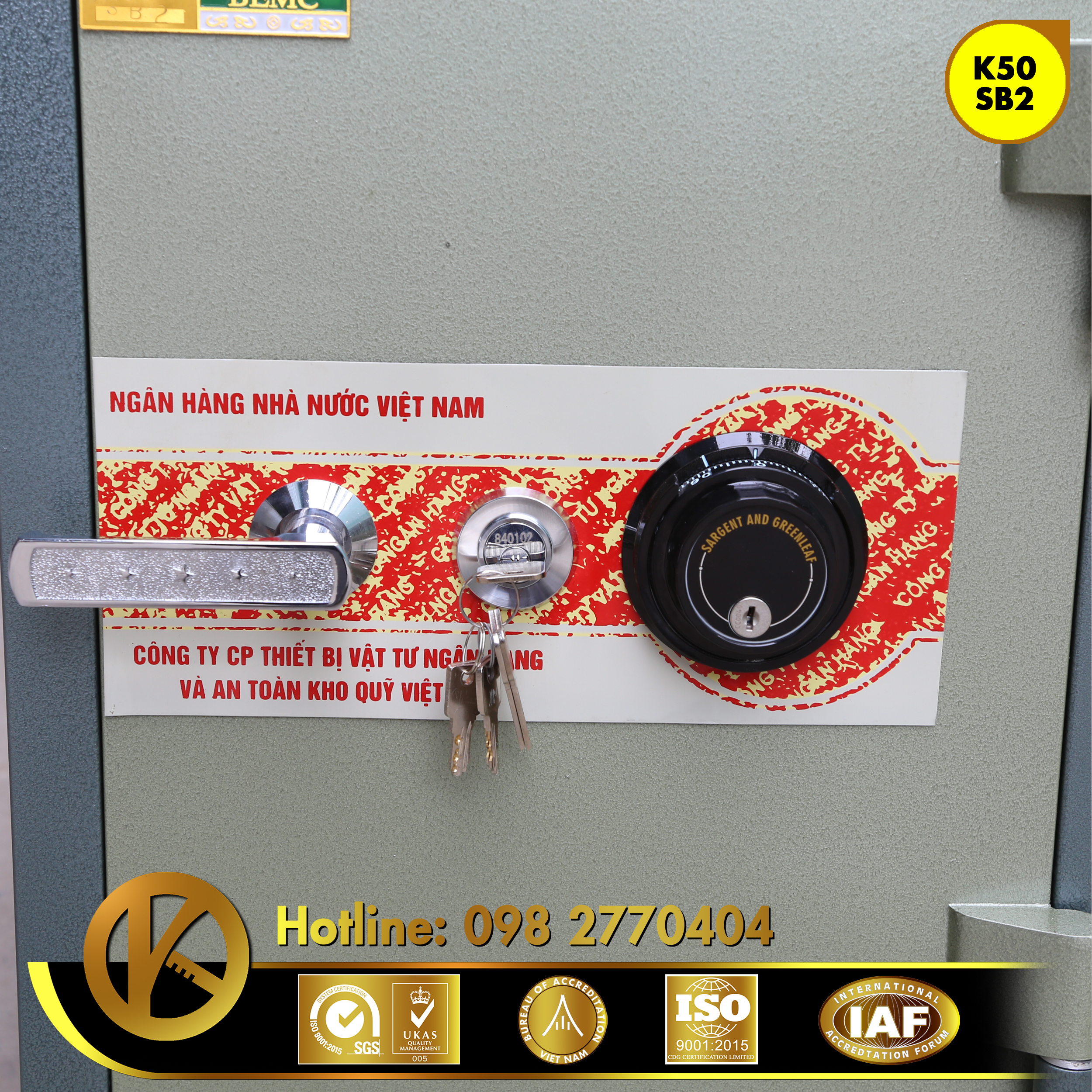 đặc điểm sản phẩm Két Sắt Ngân Hàng BEMC K50 SB2