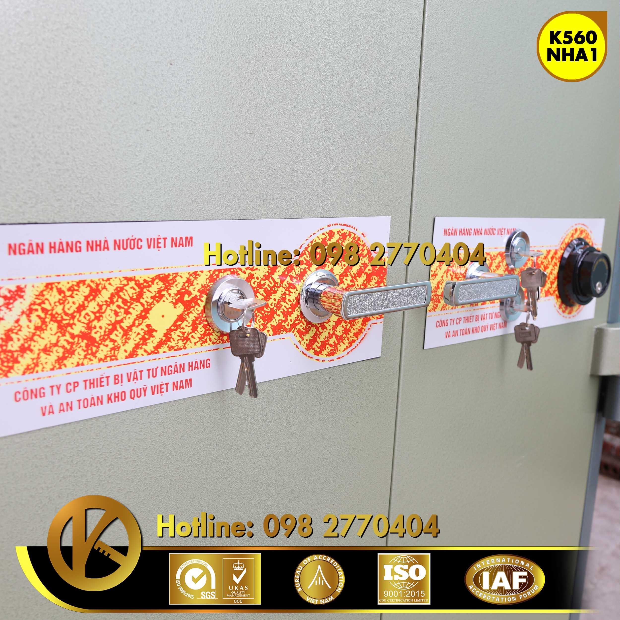 đặc điểm sản phẩm Két Sắt Ngân Hàng Bemc K560 NHA1