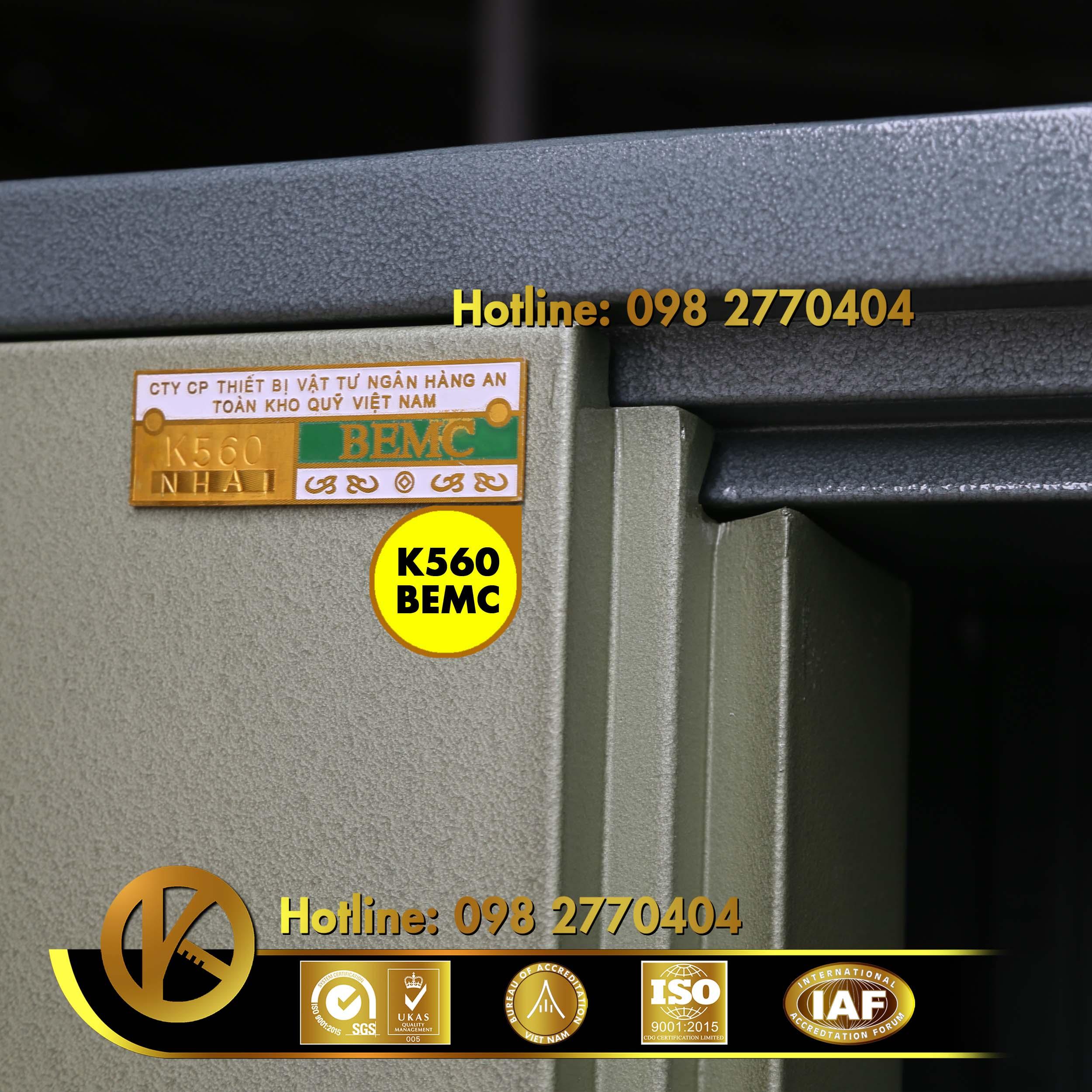 hình ảnh sản phẩm Két sắt ngân hàng K560 NHA1 khóa đổi mã Xanh