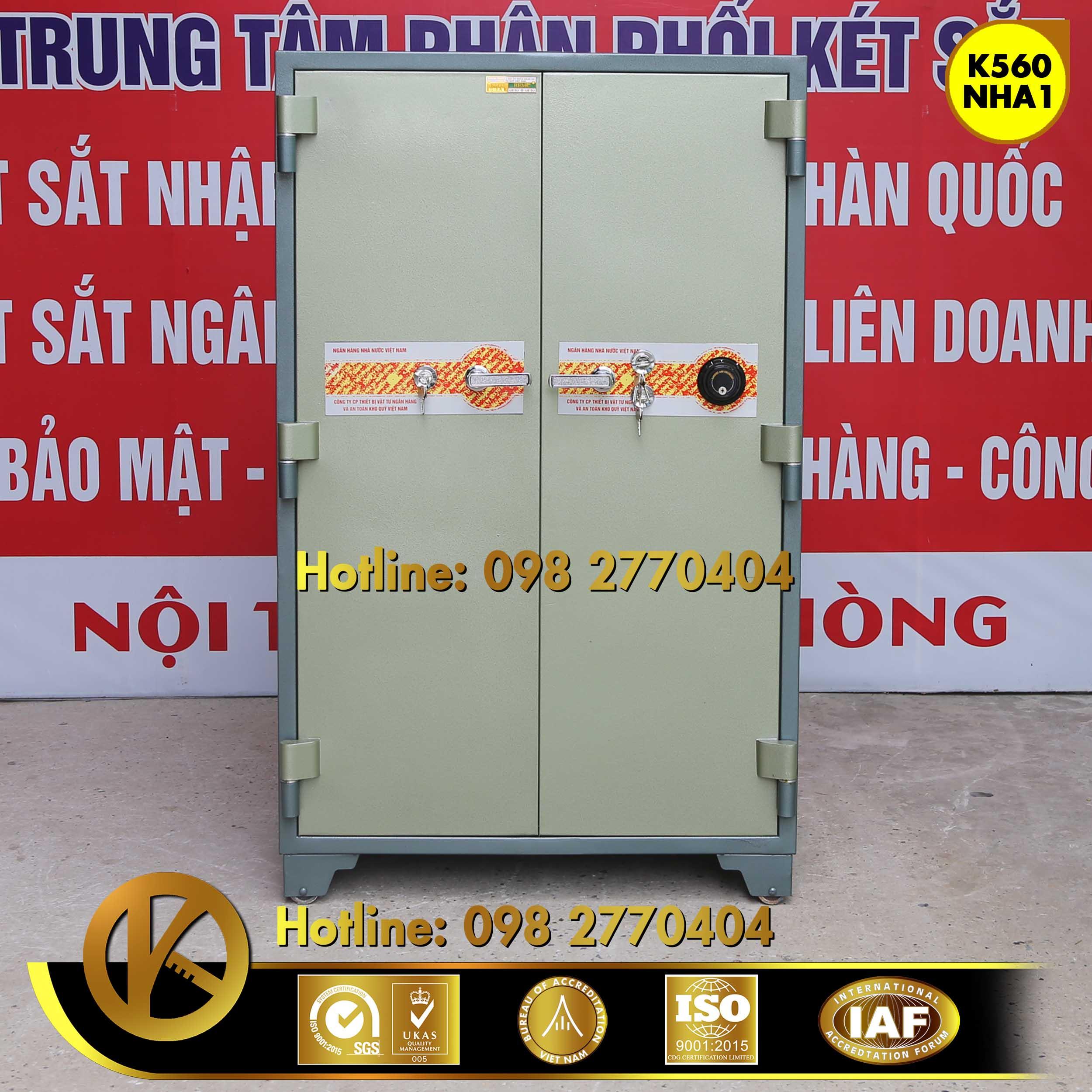 Két sắt ngân hàng K560 NHA1 khóa đổi mã Xanh