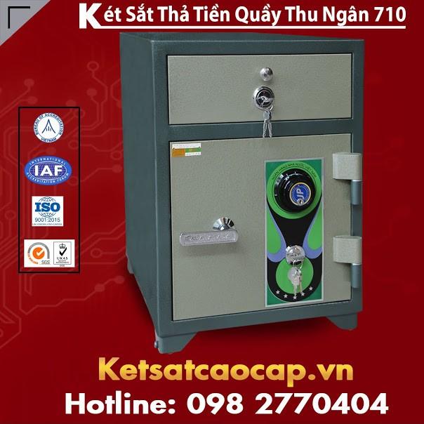 Két Sắt Thả Tiền Quầy Thu Ngân BEMC 710 Tính Bảo Mật An Toàn Tuyệt Đối