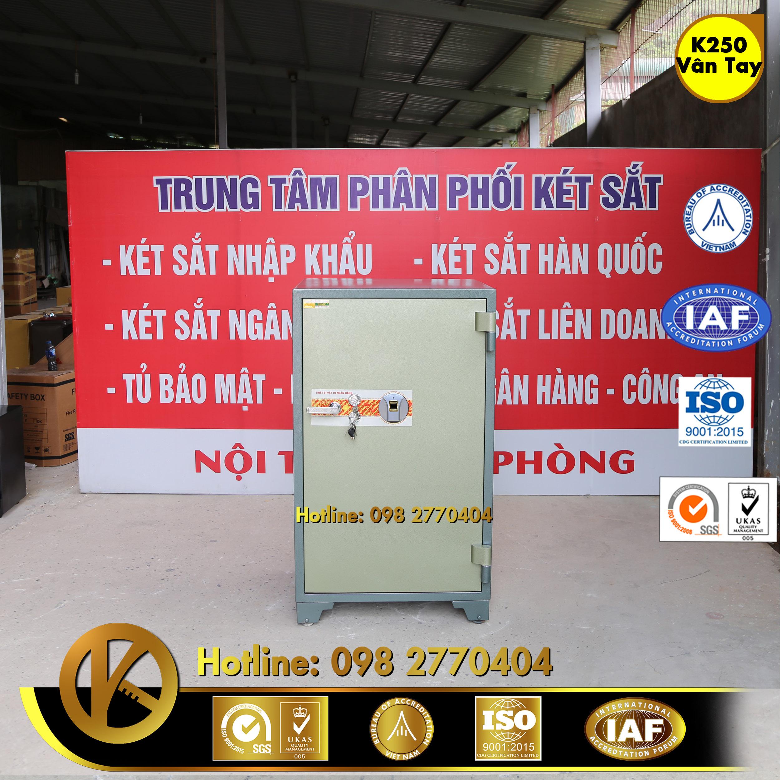 KÉT SẮT NGÂN HÀNG K250 Khoá Vân Tay