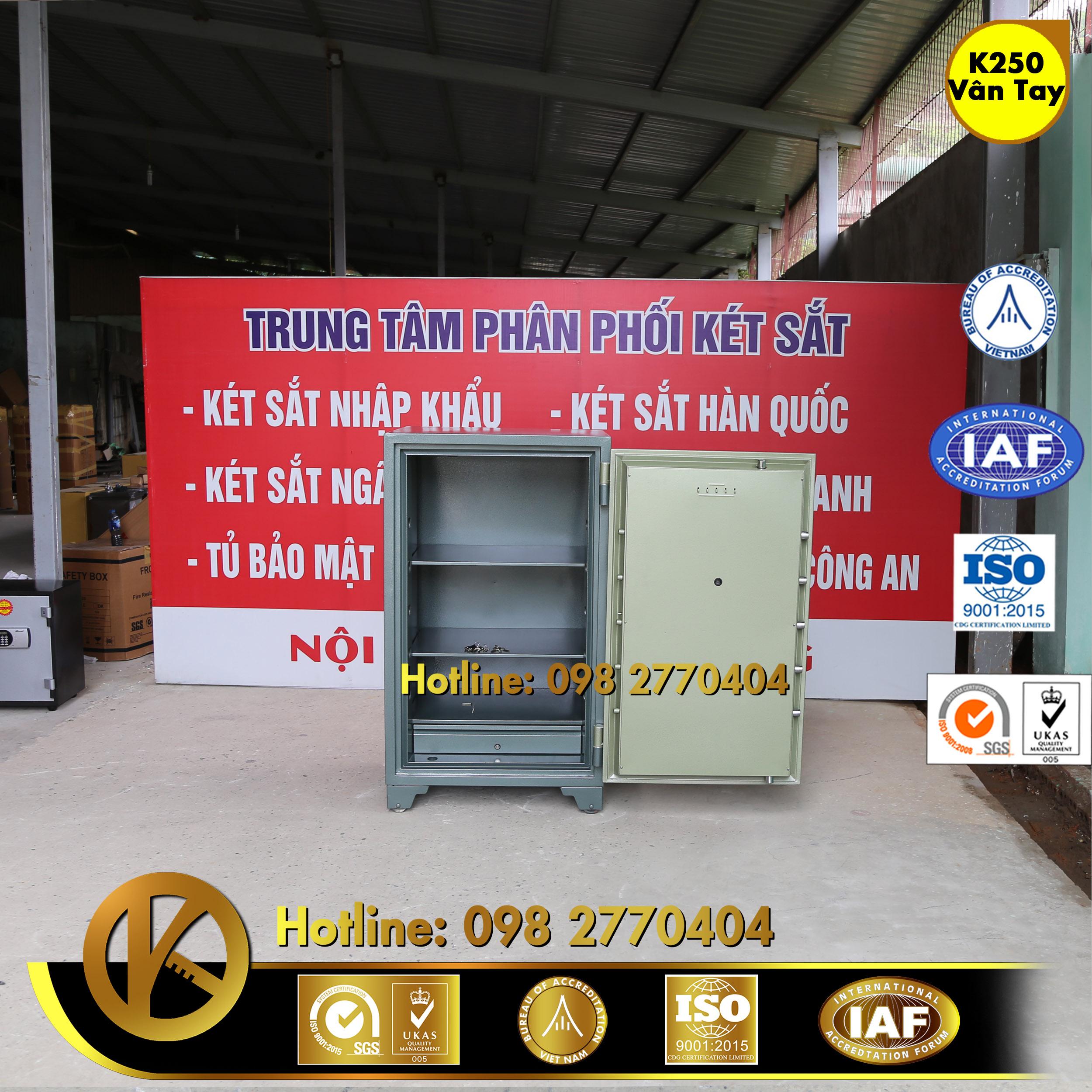 hình ảnh sản phẩm KÉT SẮT NGÂN HÀNG K250 Khoá Vân Tay