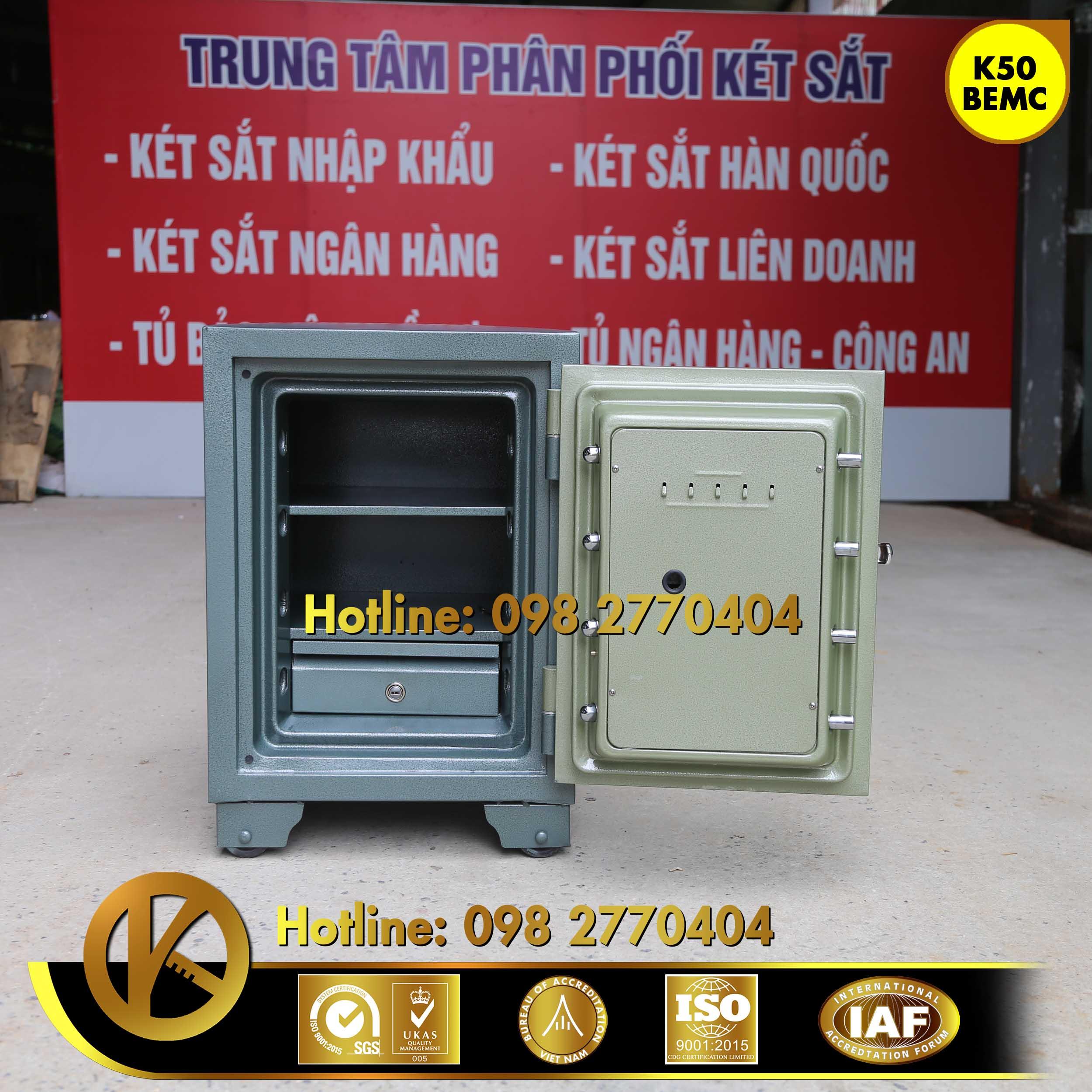 hình ảnh sản phẩm Két Sắt Ngân Hàng BEMC K50 Khoá Vân Tay