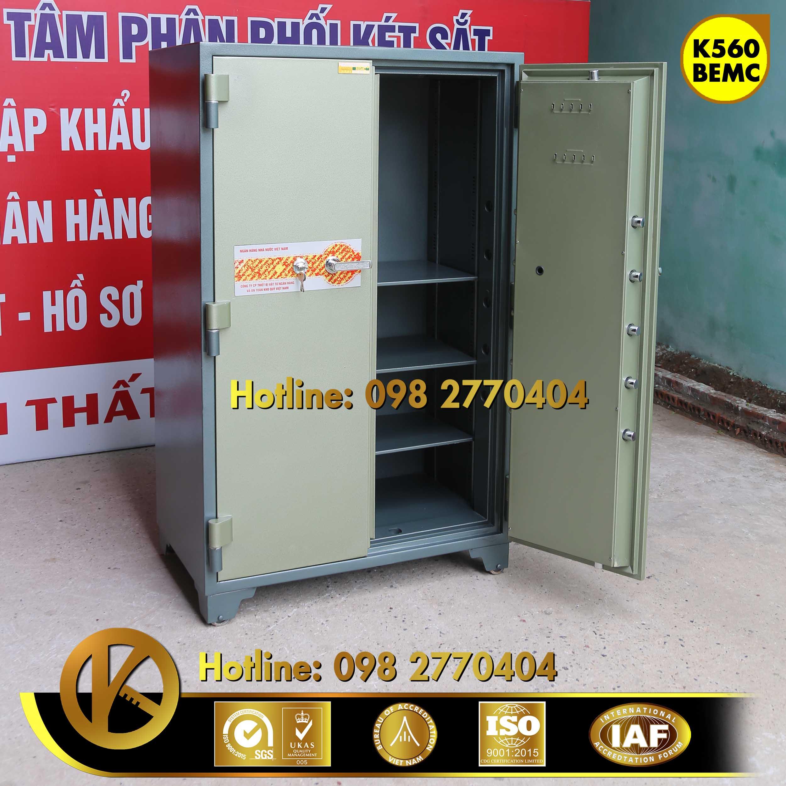 đặc điểm sản phẩm Két Sắt Ngân Hàng BEMC K560 Khoá Vân Tay